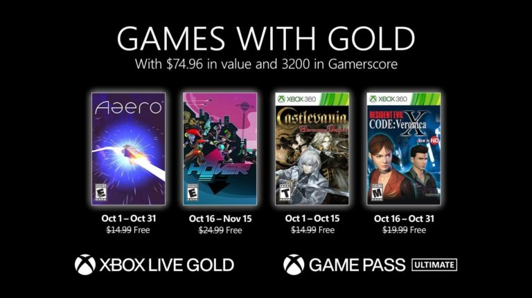 Xbox Games with Gold October lineup announced • Eurogamer.net