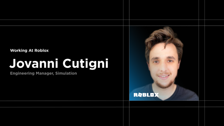 Working at Roblox: Meet Jovanni Cutigni