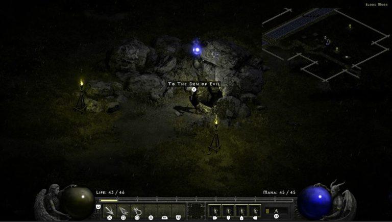 Diablo 2 Resurrected | Where to find the Den of Evil in Blood Moor