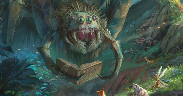 D&D's Witchlight campaign has a scary spider raising money for charity
