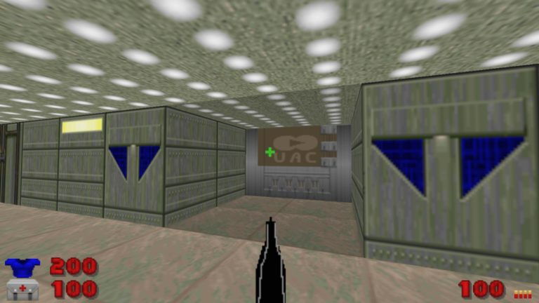 This Doom 2 mod replaces the guns with terrible MS Paint drawings