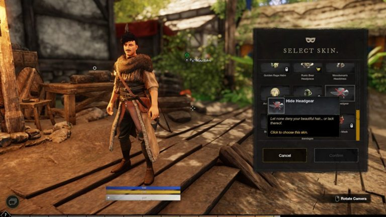 How to hide headgear in New World and find deluxe edition cosmetic bonuses