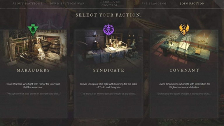 New World which faction should you join?