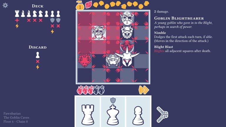 Chess rogelite Pawnbarian has a fresh new launch