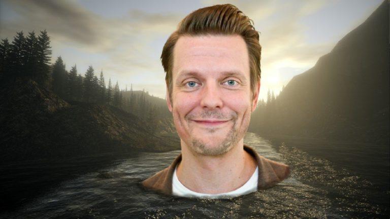 Random: Sam Lake Jumped In A Lake To Promote Alan Wake: Remastered