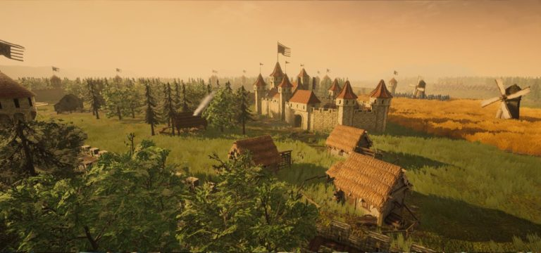 Build castles to survive the Mongols in a free wave defense RTS