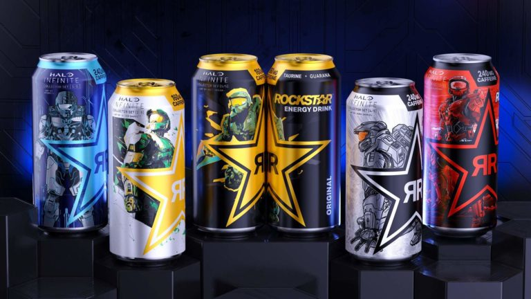 Xbox and Rockstar Energy Drink Unveil Artist-Series Cans Inspired by Halo Infinite