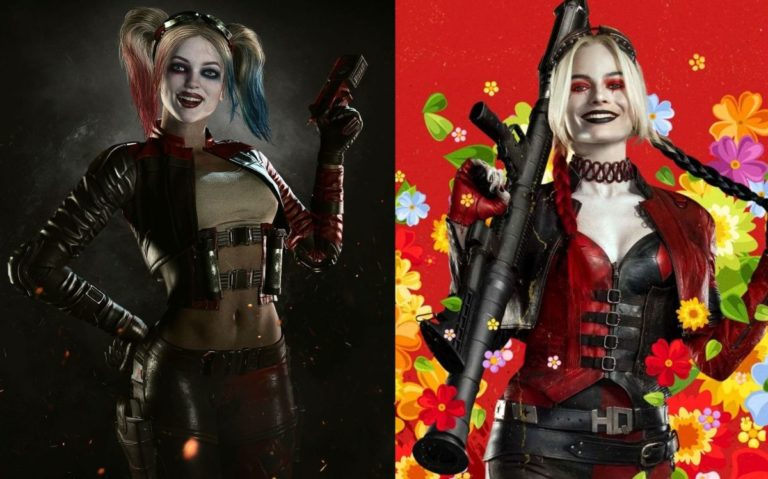 Harley Quinn's beach uniform in The Suicide Squad was inspired by her Injustice 2 outfit