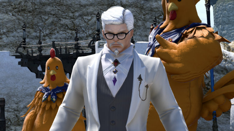 Colonel Sanders and a giant chicken are photobombing and confusing FFXIV players