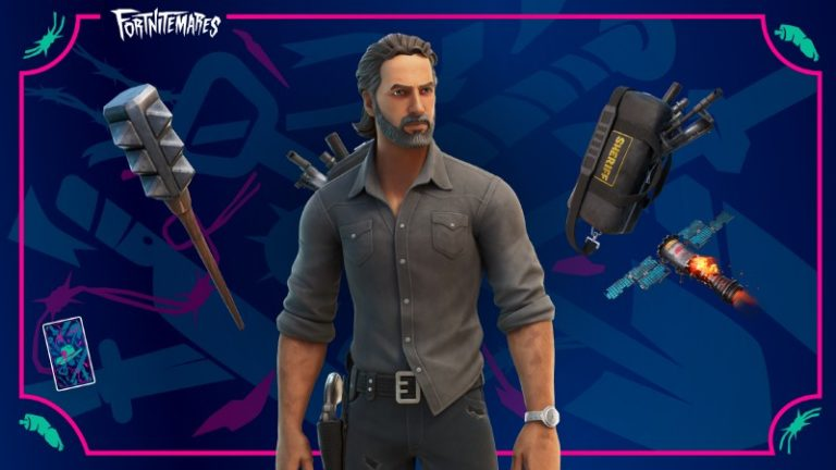 Rick Grimes From The Walking Dead Joins Fortnite, Daryl And Michonne Return To Item Shop