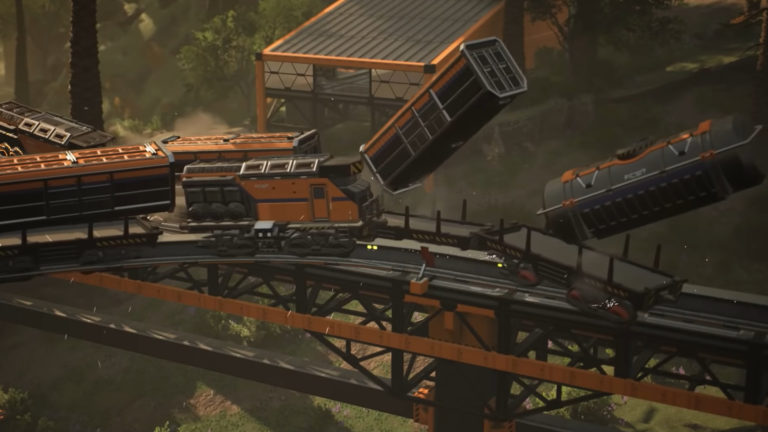 Satisfactory's new train collisions look like absolute carnage