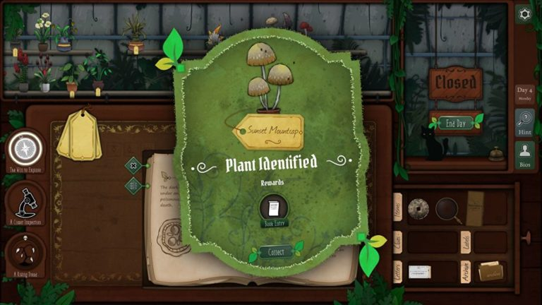 Running an eldritch plant shop in Strange Horticulture is everything I want in life